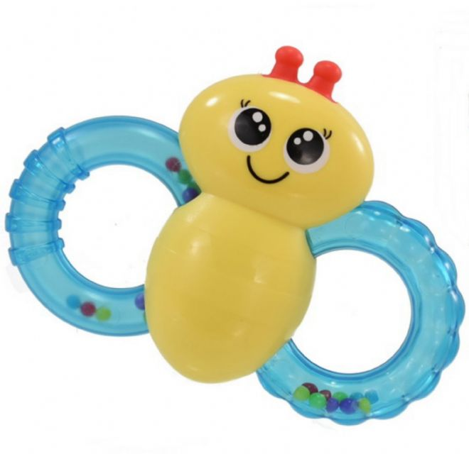 Babies Newborn Rattle Bee Teether Soothing Easy Grip Textured Activity